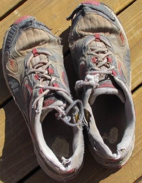 נעלי ריצה שחוקות - איימקס התאמת נעלייים