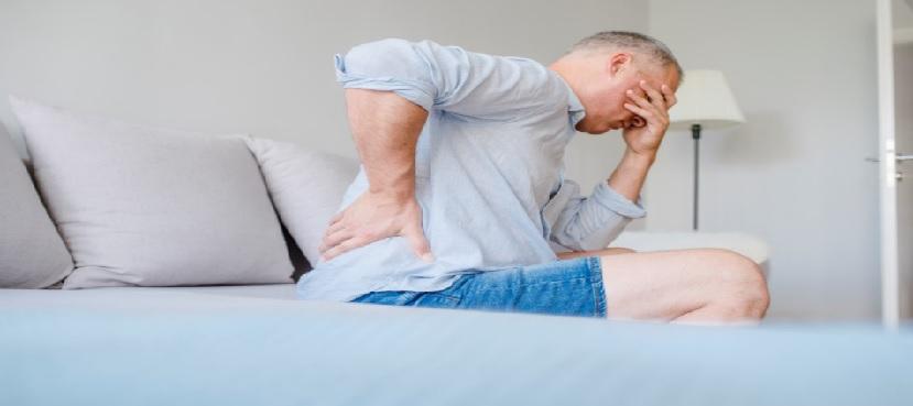 מטופל עם כאב גב מקרין