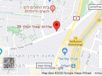 מדרסים בתל אביב - מפת איימקס